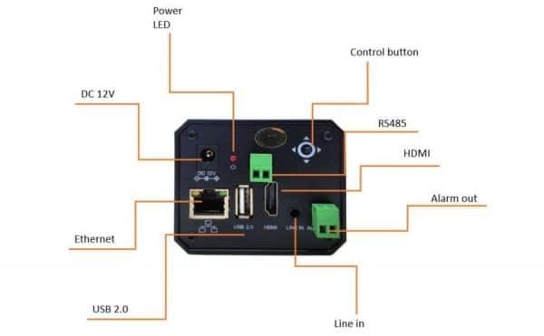 Interfaces de la Cámara termográfica para detección de fiebre DR-23