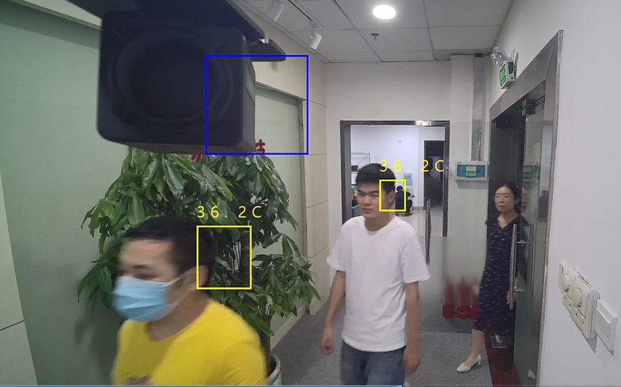 Detección de fiebre sobre la imagen real