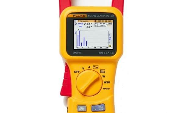 Analizador de calidad eléctrica FLUKE 345, dispaly de armónicos