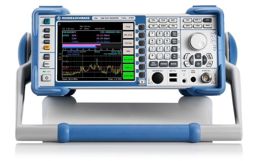 Receptor para ensayos de EMI R&S ESL