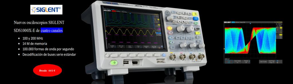 Osciloscopios SIGLENT SDS1000X-E, modelos de 2 y 4 canales, precio sin competencia