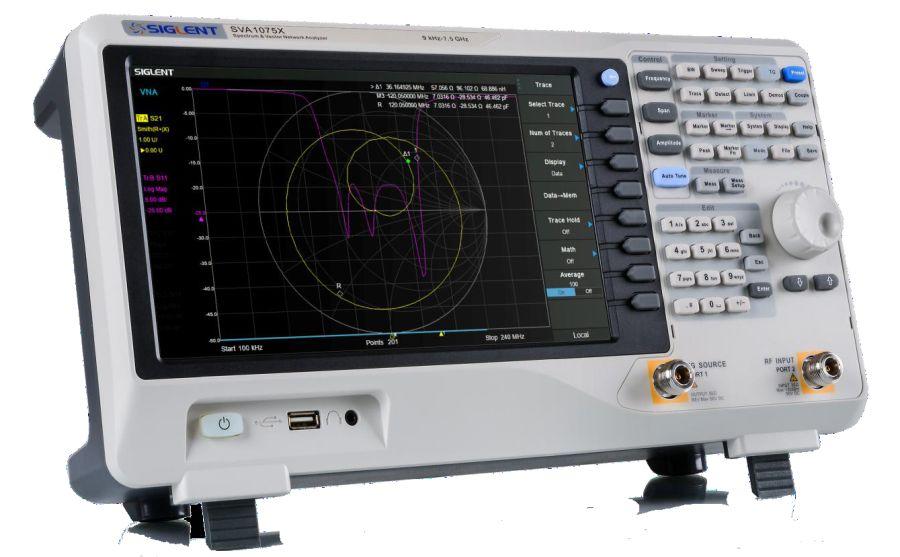 Analizador de espectros y de redes vectoriales SIGLENT SVA1000X
