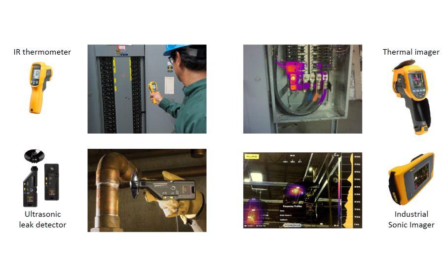 Fluke ii900 comparativa con detectores de ultrasonidos
