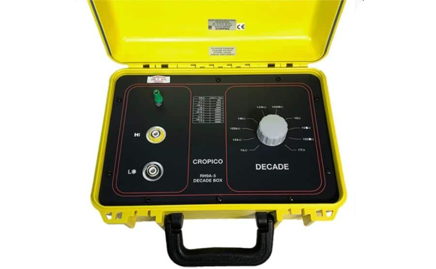 Década para calibración de medidores de aislamiento