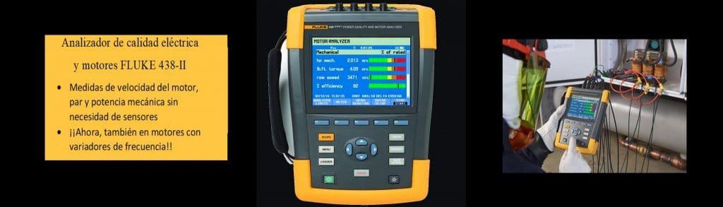 Analizador de motores y de calidad eléctrica FLUKE 438-2