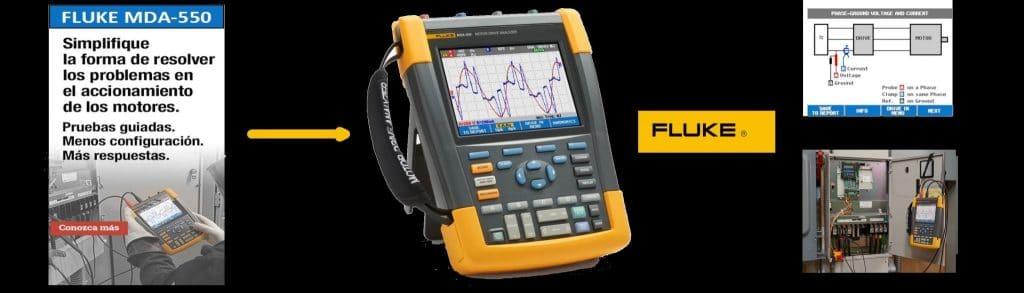 Analizador de motores y variadores de frecuencia FLUKE MDA550