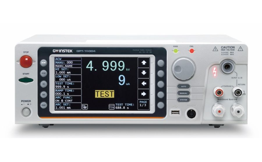 Analizador de seguridad eléctrica GW-INSTEK GPT-15004