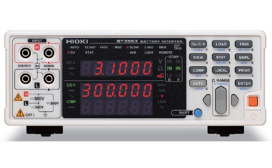 Analizadores de baterías HIOKI BT3562 y BT3563