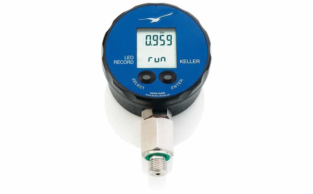 Manómetro registrador de presión y temperatura KELLER LEO RECORD