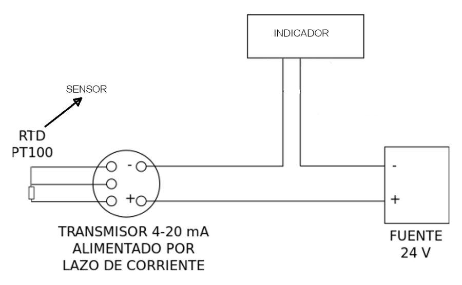 Lazo de corriente de 4...20 mA