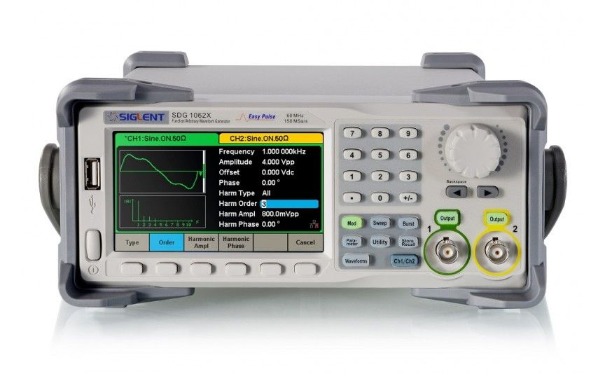 Generadores de funciones, tipos, aplicaciones y parámetros de selección